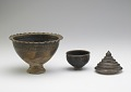 View Pedestal-footed bowl with interior stand digital asset number 4