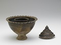 View Pedestal-footed bowl with interior stand digital asset number 5