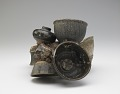 View Conglomerate of seven bowls, a small jar and a portion of an elephant figurine (pastiche) digital asset number 1