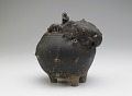 View Pouring vessel in the form of a caparisoned elephant, with a spout on the shoulder digital asset number 2