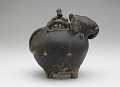 View Pouring vessel in the form of a caparisoned elephant, with a spout on the shoulder digital asset number 3