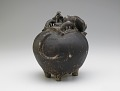 View Pouring vessel in the form of a caparisoned elephant, with a spout on the shoulder digital asset number 4