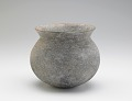 View Vessel with round bottom, incised decor, and overall cord-wrapped paddle-impressed texture digital asset number 0