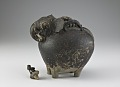 View Pouring vessel in the form of a caparisoned elephant, with a spout on the shoulder digital asset number 7