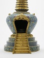 View Cloisonne stupa with gilt ornaments digital asset number 1