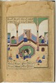 View Folio from a <em>Khamsa</em> (Quintet) by Nizami (d.1209); recto: text; verso: illustration: Caliph al-Ma'mun and the barber digital asset number 0