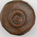 View Cylindrical tea bowl, unknown Raku ware workshop digital asset number 1