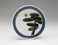 View Dish with design of pine tree and moon (from a set of five) digital asset number 0
