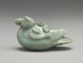 View Water dropper in the shape of a mandarin duck (imitation of Goryeo celadon) digital asset number 0