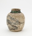 View Tea-leaf jar for sencha, with matching lid, Kyoto-related ware digital asset number 1