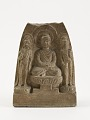 View Seated Buddha with two bodhisattvas digital asset number 0