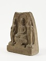 View Seated Buddha with two bodhisattvas digital asset number 1