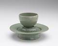 View Cup with incised floral decoration digital asset number 2