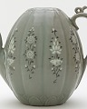 View Ewer with inlaid designs of peony and chrysanthemum digital asset number 1