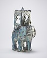View Elephant with howdah and figure digital asset number 2