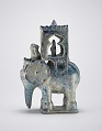 View Elephant with howdah and figure digital asset number 3