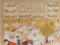 View Folio from a <em>Khamsa</em> (Quintet) by Nizami (d.1209); recto: text; verso: illustration and text: The story of Faridun and the deer digital asset number 1