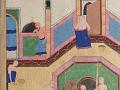 View Folio from a <em>Khamsa</em> (Quintet) by Nizami (d.1209); recto: text; verso: illustration: Caliph al-Ma'mun and the barber digital asset number 3
