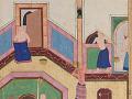 View Folio from a <em>Khamsa</em> (Quintet) by Nizami (d.1209); recto: text; verso: illustration: Caliph al-Ma'mun and the barber digital asset number 4
