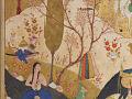 View Folio from a <em>Khamsa</em> (Quintet) by Nizami (d.1209); recto: text; verso: illustration: Khusraw sees Shirin bathing digital asset number 3