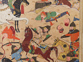 View Folio from a <em>Khamsa</em> (Quintet) by Nizami (d.1209); recto: illustration: A battle between the forces of Khusraw and Bahram Chubina; verso: text digital asset number 4