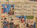 View Folio from a <em>Khamsa</em> (Quintet) by Nizami (d.1209); recto: illustration: Alexander Battling the Zangis; verso: text digital asset number 1