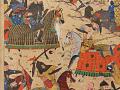 View Folio from a <em>Khamsa</em> (Quintet) by Nizami (d.1209); recto: illustration: Alexander Battling the Zangis; verso: text digital asset number 3