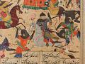 View Folio from a <em>Khamsa</em> (Quintet) by Nizami (d.1209); recto: illustration: Alexander Battling the Zangis; verso: text digital asset number 6