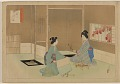 View Album of colored woodblock prints with scenes of contempory women by several artists digital asset number 2