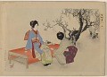 View Album of colored woodblock prints with scenes of contempory women by several artists digital asset number 28