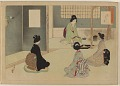View Album of colored woodblock prints with scenes of contempory women by several artists digital asset number 5