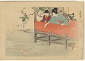 View Album of colored woodblock prints with scenes of contempory women by several artists digital asset number 30