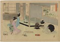 View Album of colored woodblock prints with scenes of contempory women by several artists digital asset number 6