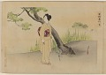 View Album of colored woodblock prints with scenes of contempory women by several artists digital asset number 31