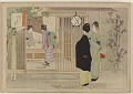 View Album of colored woodblock prints with scenes of contempory women by several artists digital asset number 7