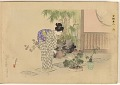 View Album of colored woodblock prints with scenes of contempory women by several artists digital asset number 8