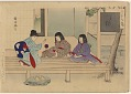 View Album of colored woodblock prints with scenes of contempory women by several artists digital asset number 15