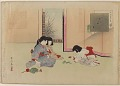 View Album of colored woodblock prints with scenes of contempory women by several artists digital asset number 16