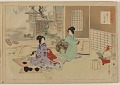 View Album of colored woodblock prints with scenes of contempory women by several artists digital asset number 18