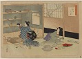 View Album of colored woodblock prints with scenes of contempory women by several artists digital asset number 19