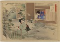 View Album of colored woodblock prints with scenes of contempory women by several artists digital asset number 21
