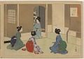 View Album of colored woodblock prints with scenes of contempory women by several artists digital asset number 22