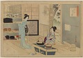 View Album of colored woodblock prints with scenes of contempory women by several artists digital asset number 23