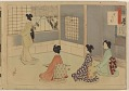 View Album of colored woodblock prints with scenes of contempory women by several artists digital asset number 24