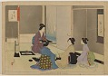 View Album of colored woodblock prints with scenes of contempory women by several artists digital asset number 25