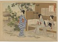 View Album of colored woodblock prints with scenes of contempory women by several artists digital asset number 26