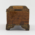 View Writing box with utensils, decorated with photographs of Nasir a-Din Shah, his court, and views of Paris and Tehran digital asset number 5