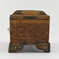 View Writing box with utensils, decorated with photographs of Nasir a-Din Shah, his court, and views of Paris and Tehran digital asset number 6