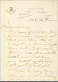 View Charles Lang Freer's letters to Frank Hecker during foreign travels, 1899-1903 digital asset number 7