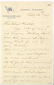View Charles Lang Freer's letters to Frank Hecker during foreign travels digital asset number 2
